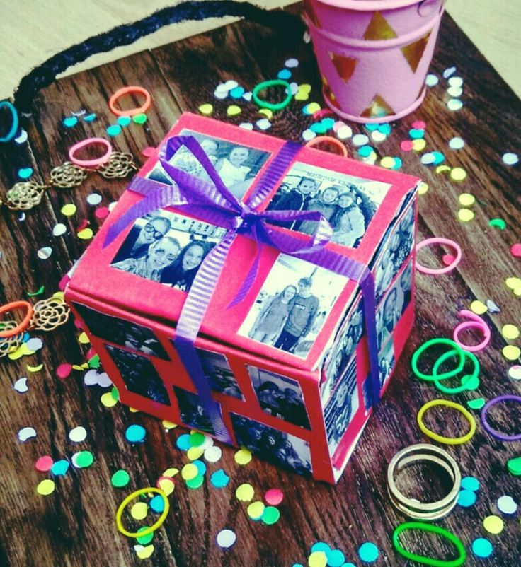 DIY gift box with our photos .Easy and nice gift idea