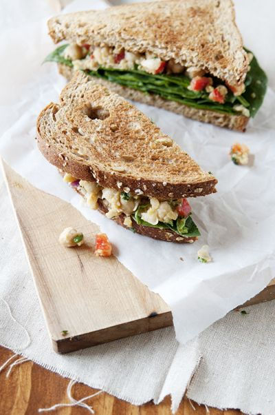 Smashed Chickpea Salad SandwichSmashed Chickpeas Salad, Smash ...