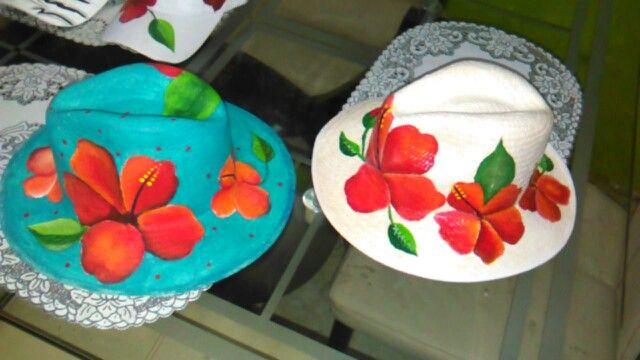 Sombreros cayena pintados