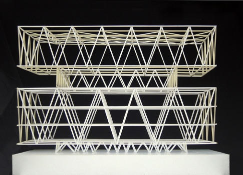 Structural Model. Schulanlage Leutschenbach - Christian Kerez Not very aestetic but amazing static