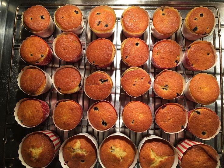 Hjemmelaga blåbærmuffins 😊