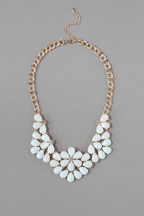 Rockville Statement Necklace in Mint - Francescas