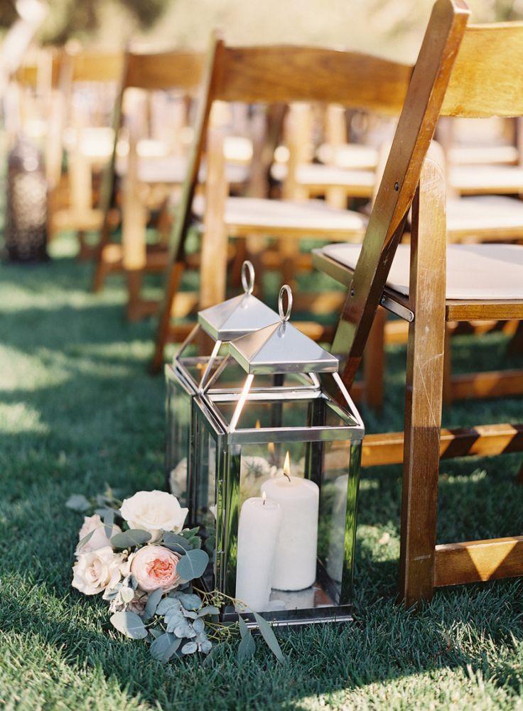 candle pretty wedding ceremony decor - Photography: Caroline Tran - www.carolinetran.net:Vineyard Wedding in California with the Prettiest Colors : https://www.itakeyou.co.uk/wedding/vineyard-wedding-in-california/