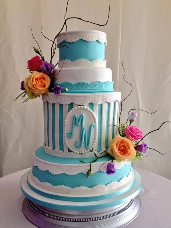 Tiffany Blue Wedding Cakes Pictures