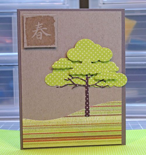 The tree is made from cloud dies. Tree trunk is from Memory Box.