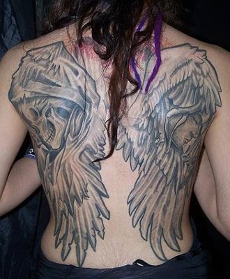 Back Wing Tattoo Designs