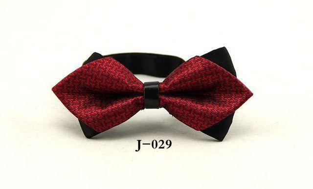 Mantieqingway Commercial Bowtie for Men Bowknot Sharp Corner Double Bow Ties Tuxedo Plaid Lattice Bow Tie Wedding Groom Cravat