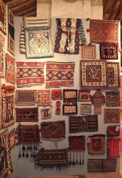 The Tribal Bag Exhibition at Sartirana Textile Show ---- something NOT scandinavian for once...