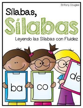 Sílabas, Sílabas--Leyendo las Sílabas con Fluidez. Syllable reading fluency in Spanish.