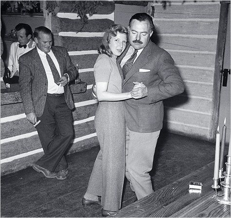 """Martha Gellhorn and Ernest Hemingway in Sun Valley, Idaho, at the time of their wedding, November 1940.  I just watched """"Hemingway and Gellhorn"""" and was struck by what a strong woman Martha Gellhorn was.....AND to put up with Hemingways'  """"unique"""" personality..... kinda helps that they plug Idaho too;)"""