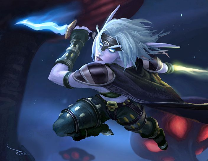 Female Night Elf Rogue I have 1 of these on an rp server. love rping.  can concentrate on a story and not be pressured to get all the best gear in a weeks time.