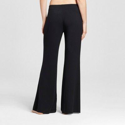 Women's Wide Leg Pajama Pants - Total Comfort - Black Xxl - Shorts, Size: Xxl Short