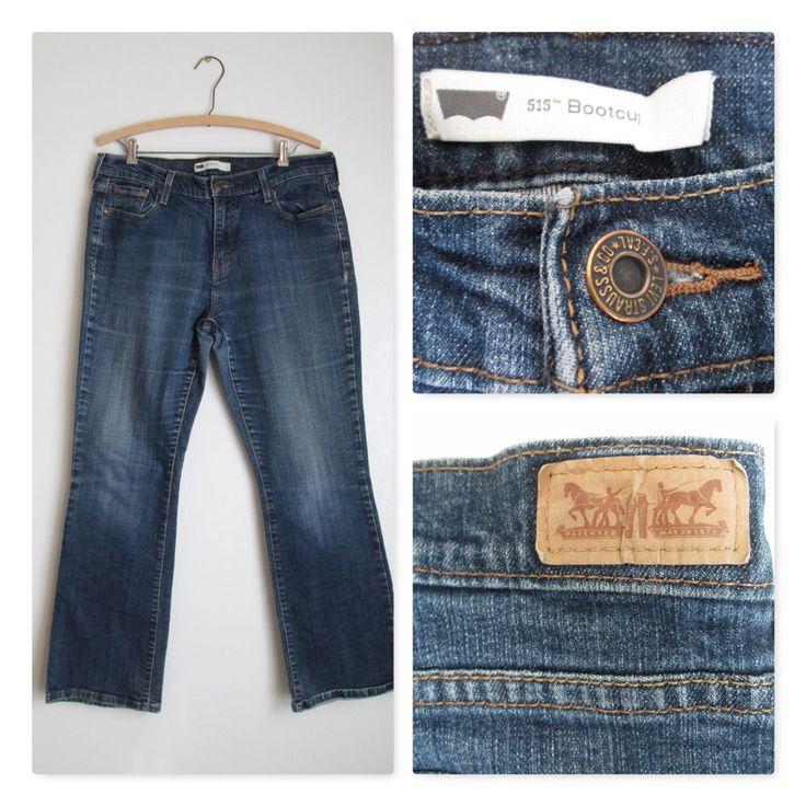 Levi's Red Tab Jeans Levi Strauss Dark Blue Cotton Blend- Size 14M #Levis #BootCut