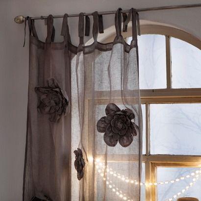 Die besten 25+ Leinen gardinen Ideen auf Pinterest - wohnzimmer gardinen landhausstil