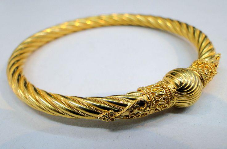 Bangle Bracelets | bangle bracelet jewelry sku 5953 tweet 22 k solid gold bangle bracelet ...