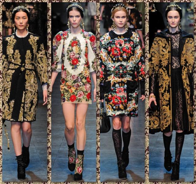 #Dolce_Gabbana #otoño_invierno #motivos_barrocos