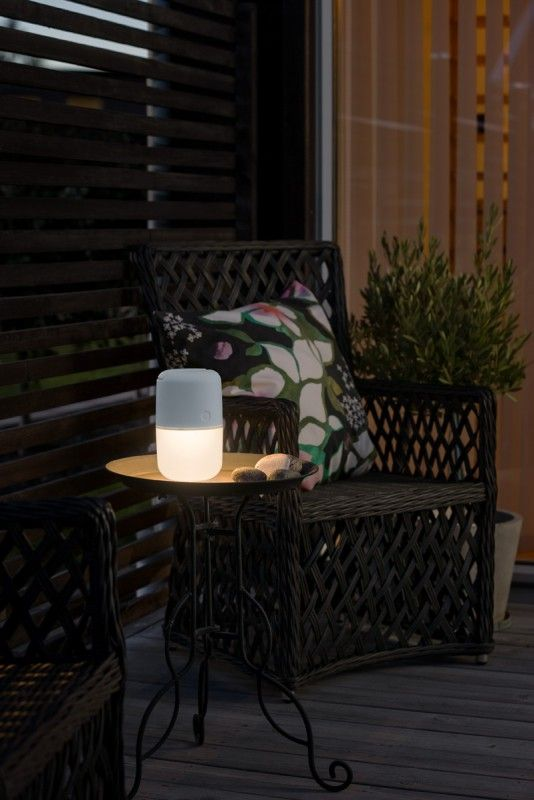 Cool KONSTSMIDE Assisi Solar LED Leuchte zum H ngen oder Hinstellen wei Au enleuchten Dekorative