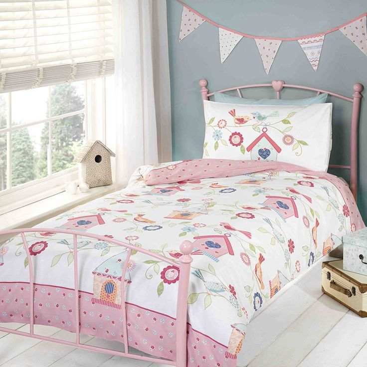 Bird House Single/US Twin Reversible Duvet Cover and Pillowcase Set //Price: $14.26 & FREE Shipping //     #bedding sets
