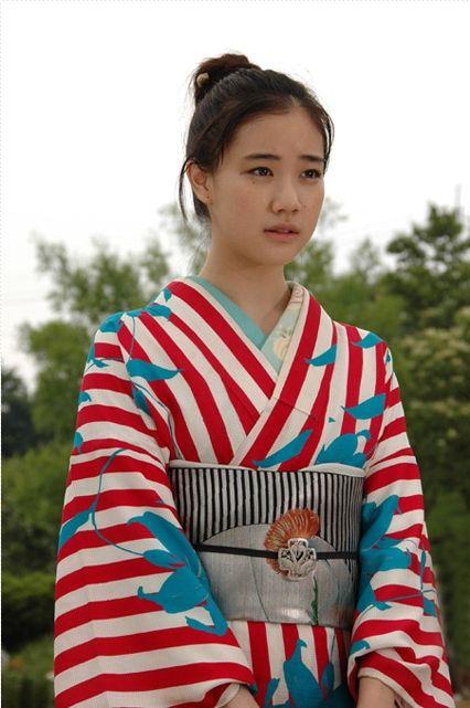 Yu Aoi in Osen--Stripey kimono drive me crazy with kimono lust!