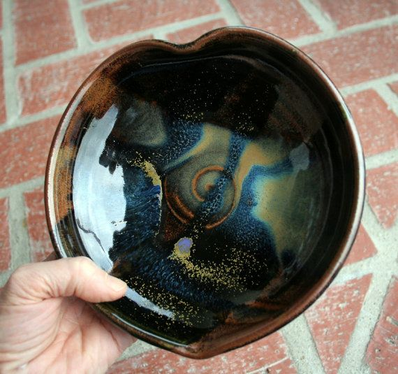 Amazing Glaze Heart Shaped Bowl RESERVED for by muddyfingers