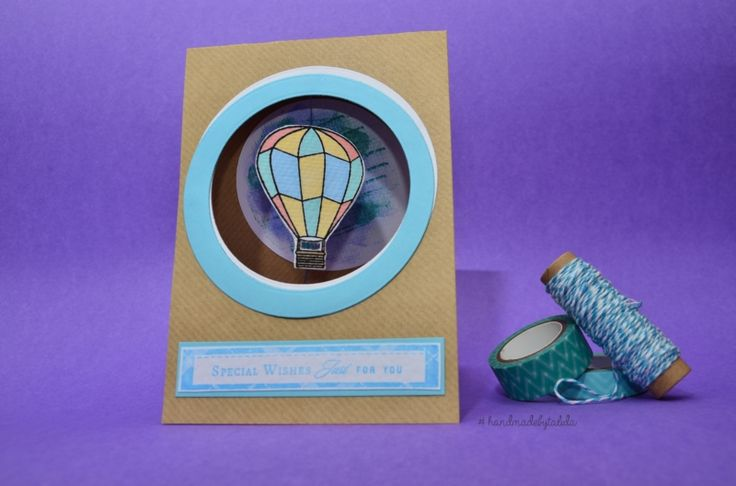 Interactive Balloons Birthday Card - Handmade by Talida #dovecraft #trimcraft