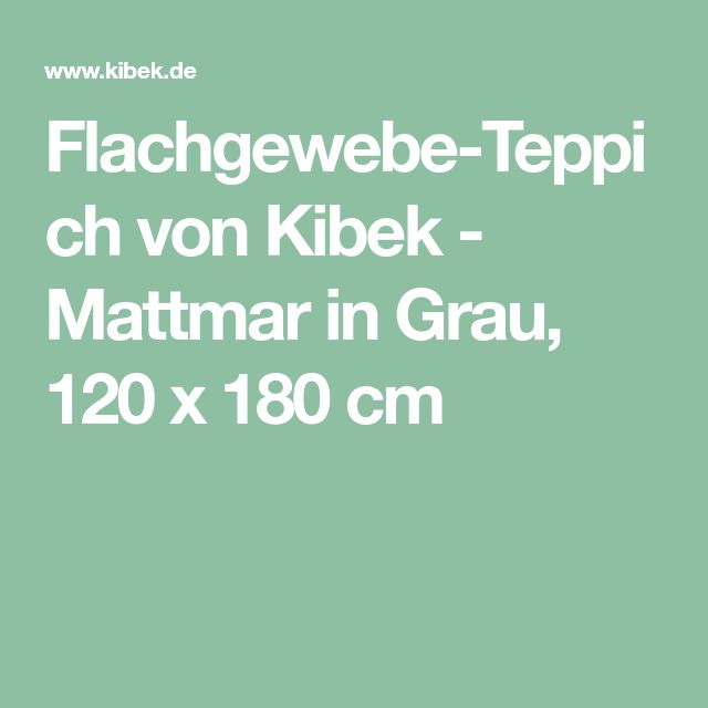 Flachgewebe-Teppich von Kibek - Mattmar in Grau, 120 x 180 cm