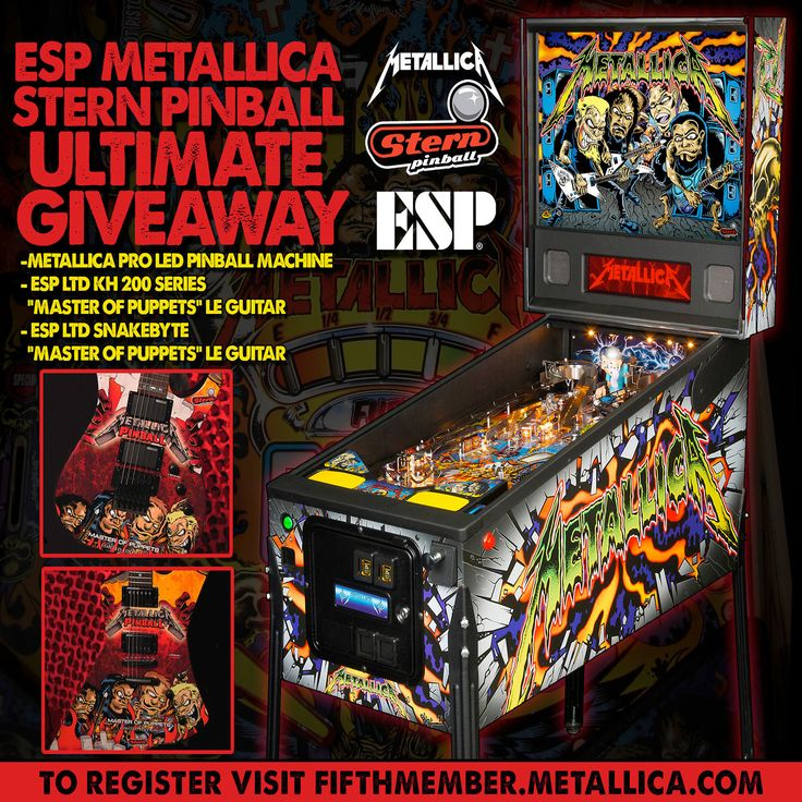 ESP Metallica Stern Pinball Ultimate Giveaway