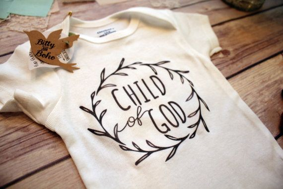 Child of God Baby Onesie® Religious Baby Gift by BittyandBoho