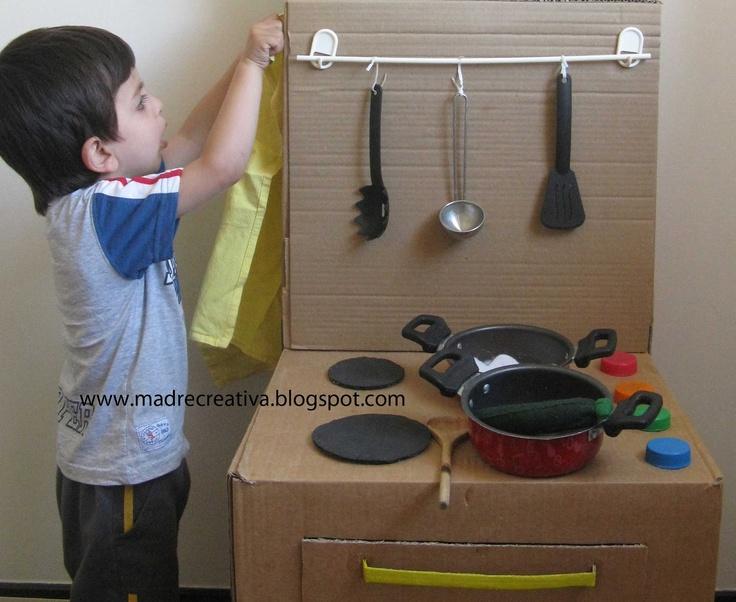 Oltre fantastiche idee su cucina di cartone