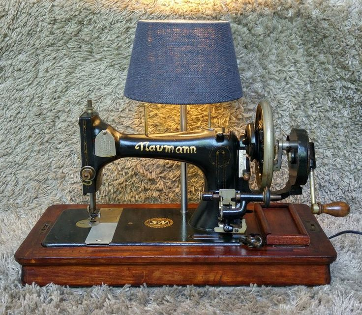 Fancy Sold Seidel Naumann Antique Sewing Machine Table Lamp Lighting Antike N hmachine Tisch Lampe Beleuchtung Worldwide Shipping FREE Shipping