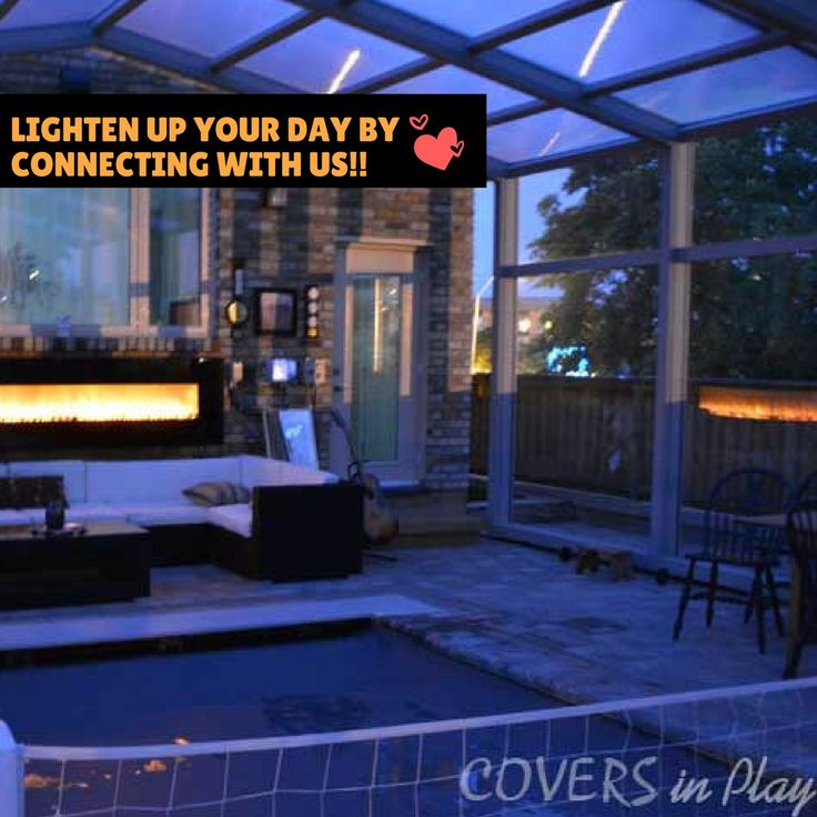 The enclosures are used for pools & spa pools. Use patio area during any bad weather in any season. See more: http://www.coversinplay.com/br…/Covers-in-Play-Brochure2.pdf #Pool #PoolCover #Cover #Enclosure #PoolEnclosure #IndoorPools #PatioEnclosures #PoolDesigns #SwimmingPool #EndlessPool #RectractablePool #GroundPool