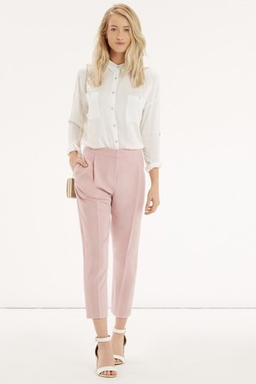 Blush pink work trousers - summer work weat