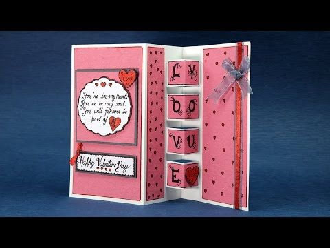 Zig zag pop up card Tutorial by Srushti Patil | Valentine special - YouTube