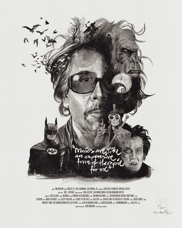 Illustrated Posters of Famous Directors - Julian Rentzsch at Stellavie Design Manufaktur.