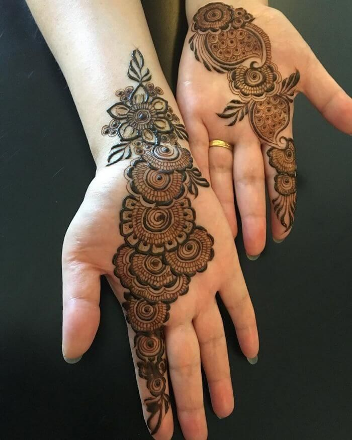 front arabic designs for hands
