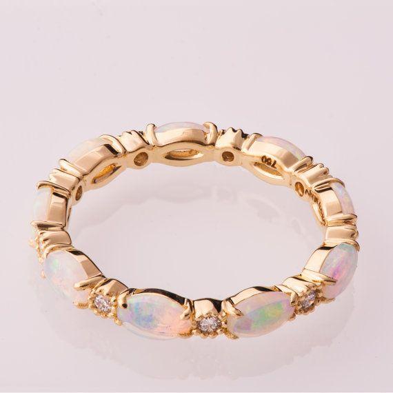 Compromiso de ópalo anillo ópalo eternidad anillo por doronmerav