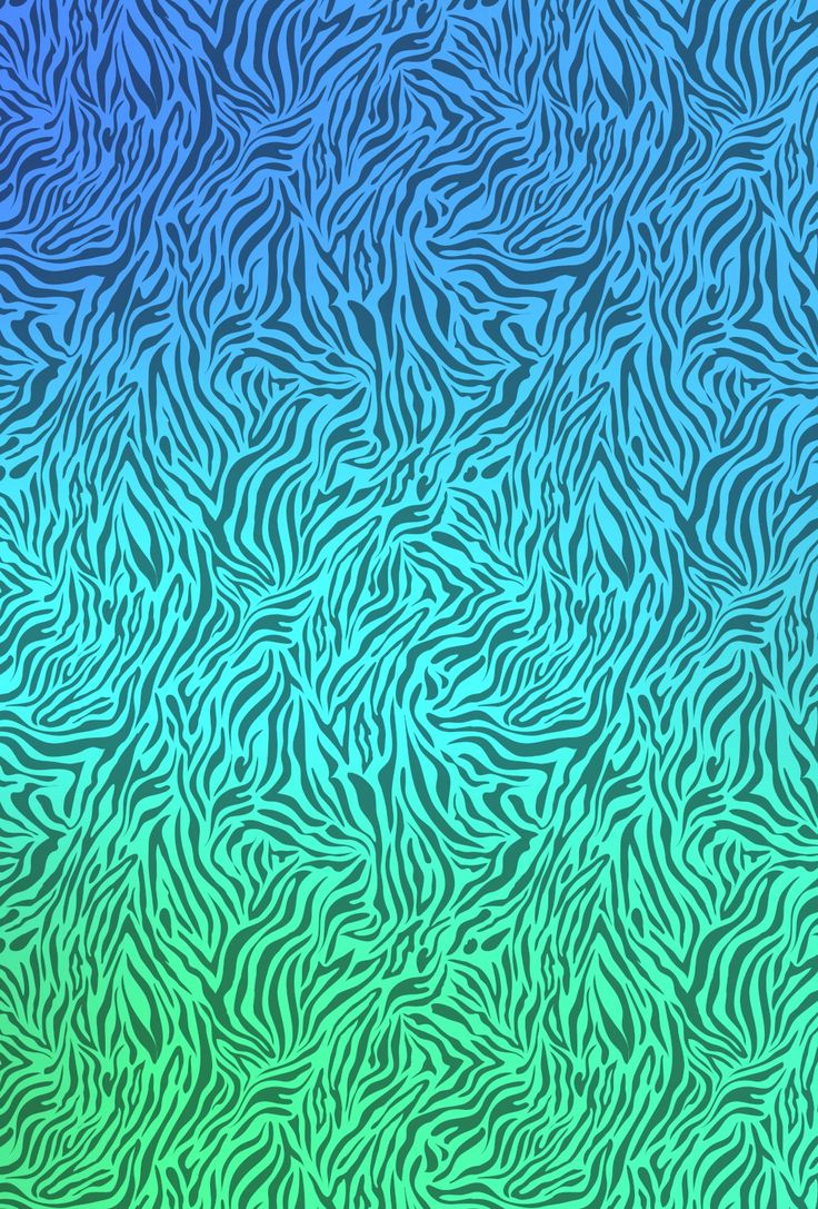 Zebra print blue and green background