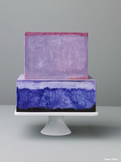 A cake inspired by artist Mark Rothko