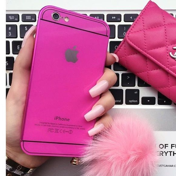 Velvet Caviar protective pink iPhone 6/6S case Cutest case ever!!!! I'm so in love with this case! Hope you will love it too. Brand new. Has a small scratch as shown in pic. Otherwise it's flawless  Velvet caviar Accessories Phone Cases