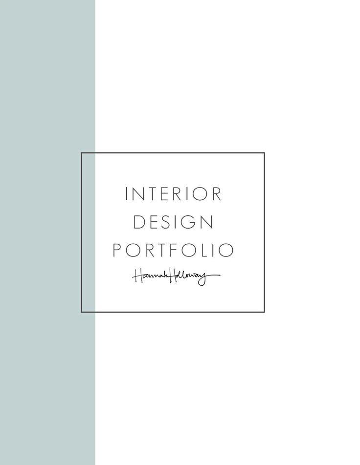 Interior Design Portfolio - Hannah Holloway