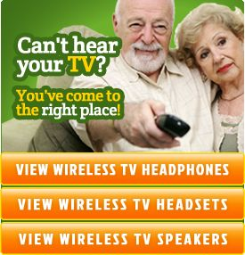Wireless TV Speakers - Ideal for Hearing Impaired or Portable Listening - Wireless Speakers | TV Headphones | Outdoor Speaker Systems