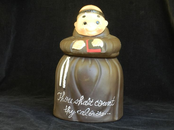 Here we have a classic cookie jar/buscuit barrel collectors pieces up for auction. It is the Friar Monk Ceramic cookie jar with Thou Shalt Count Thy Calories written on it. No chips or cracks etc.In excellent used condition. Pick up Kyneton or can post via Sendle. Please see pictures for details and see my other auctions. | eBay!