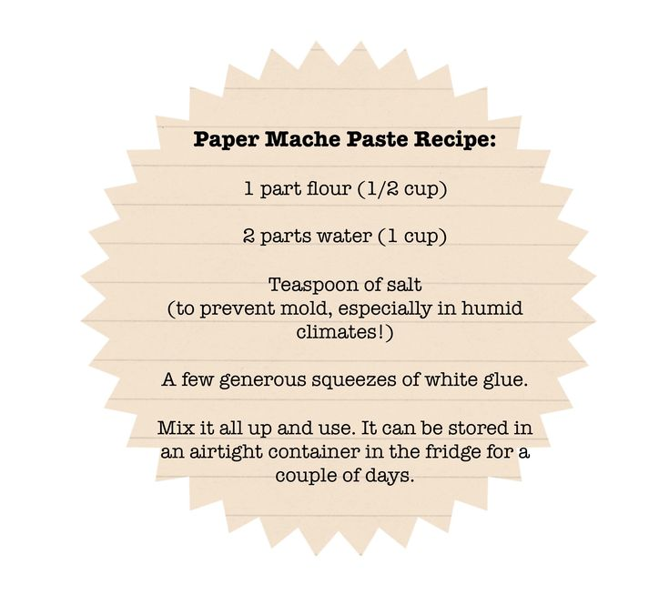 Paper Mache Recipe | Here is a paper mache recipe that always works for me.