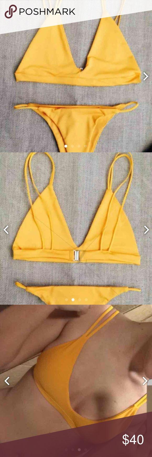 Yellow bikini set Never worn acacia swimwear Swim Bikinis