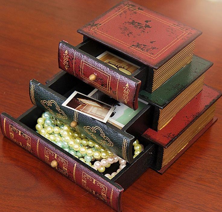 Купить товарАнтикварные Книги Дизайн Деревянный Коробка Ювелирных Изделий Классический 3 ящика 3 Stack Книги Дизайн в категории Коробки и лотки для храненияна AliExpress. приглашаем вас посетить наш магазин. мы ' ве с участием вкраснодеревщика промышленность и распространение технически