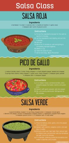 Types of Salsa - homemade!