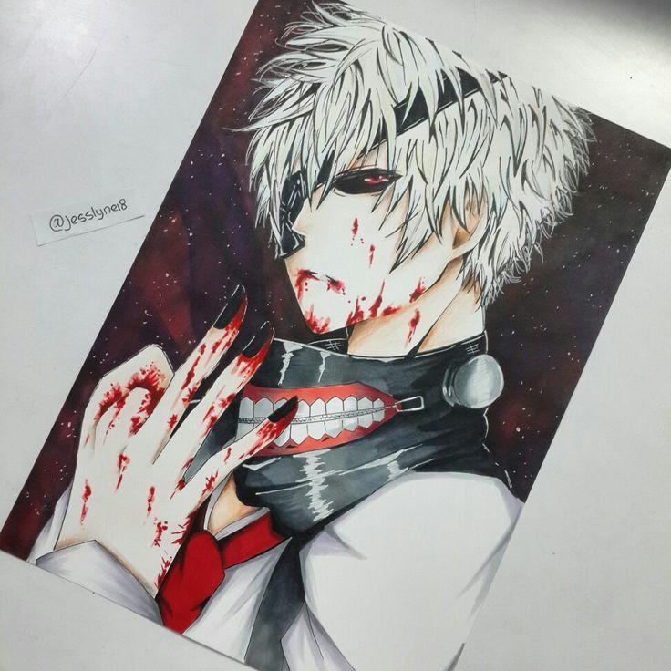 Kaneki ken fan art #anime #animeart #animeartwork #art #artwork #tkyoghoul  #kanekiken #kaneki #fanart