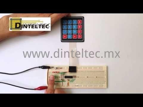 Cerradura Electronica con PIC16F84A - YouTube