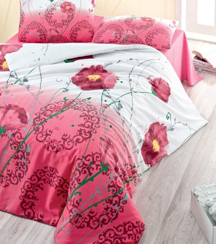 REDUCERE -15% pentru Lenjerie de pat din policotton Valentini Bianco VKP10 Gelincik Rosu. Preț promoțional: 119 lei.