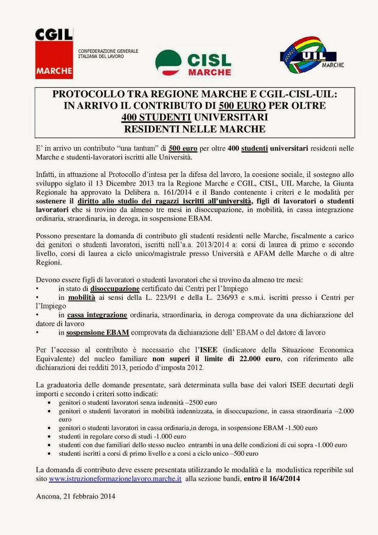 FIM CISL  INDESIT COMPANY MELANO: UN AIUTO AI FIGLI DI LAVORATORI ED AGLI STUDENTI L...